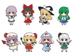 Nendoroid Rubber Straps : Touhou Project (Set #01) - Touhou Project
