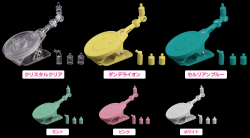 Nendoroid Clip Stands 1.5 : ((transparent, Jaune, Turquoise) - ND