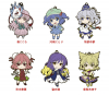 Rubber Straps : Touhou Project (Set #08) - Nendoroid Plus